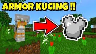 ✔️ Cara Pasang Armor Ocelot / Kucing Di Minecraft !!