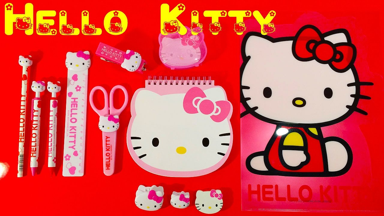 PLAYSETS BY SANRIO HELLO KITTY PLAYFUL PETS SET OF 4