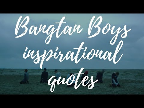 BTS INSPIRATIONAL QUOTES