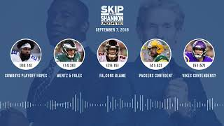 UNDISPUTED Audio Podcast (9.07.18) with Skip Bayless, Shannon Sharpe & Jenny Taft | UNDISPUTED