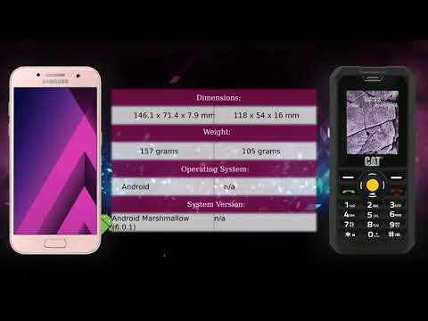 Samsung Galaxy A5 2017 vs CAT B30 - Phone comparison