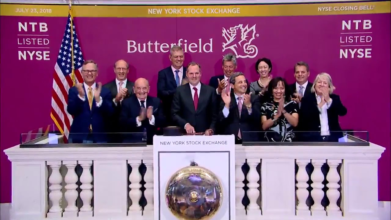 Butterfield Rings NYSE Closing Bell, July 23 2018