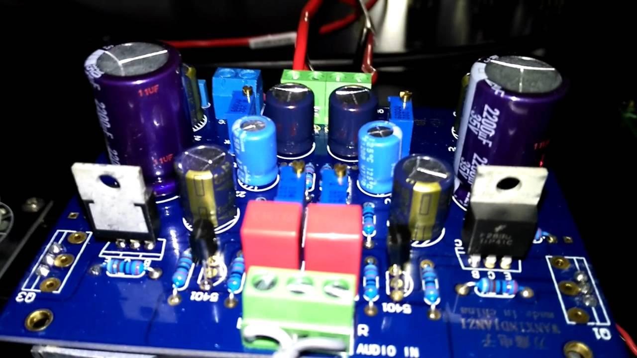 hight resolution of tip41c class a amplifier