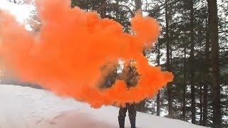 Обзор-тест дымовых шашек ДМ-11,РДГ цветной дым