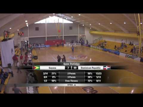 República Dominicana vs. Guyana Centro Basket U 15
