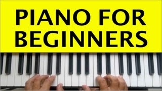 Piano Lessons for Beginners Lesson 1 How to Play Piano Tutorial Easy Free Online Learning Chords
