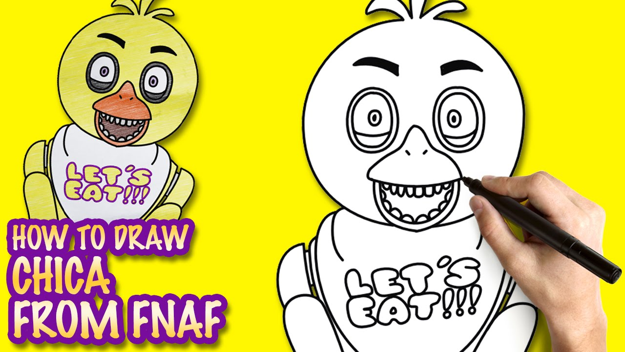 How To Draw Chica From Fnaf Easy Step By Step Drawing Lessons