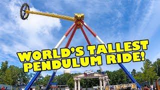 OMG! World's Tallest Pendulum Ride! Wonder Woman Six Flags Great Adventure Onride POV