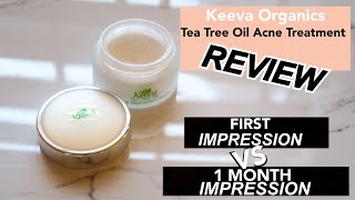 Keeva Organic's Tea Tree Oil Acne Treatment REVIEW