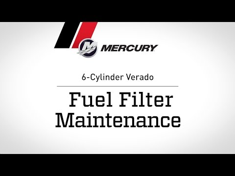 Mercury Verado Maintenance Fuel Filter Youtube