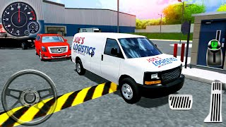 Minibüs Lojistik Sürüş - Kamyon Sürücüsü: Depo Park Simülatörü - Android GamePlay # 5