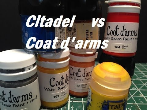 Product Comparison: Citadel vs Coat d'arms Paints
