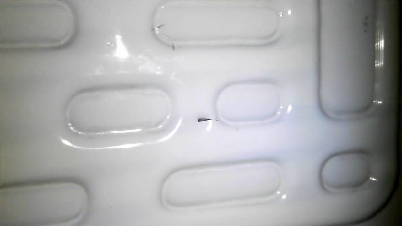 прокол теплоизоляционного слоя холодильника