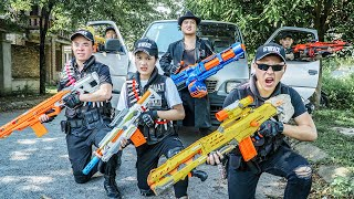 LTT Game Nerf War : Couple Warriors SEAL X Nerf Guns Fight Crime Group Braum Crazy Lone SPY