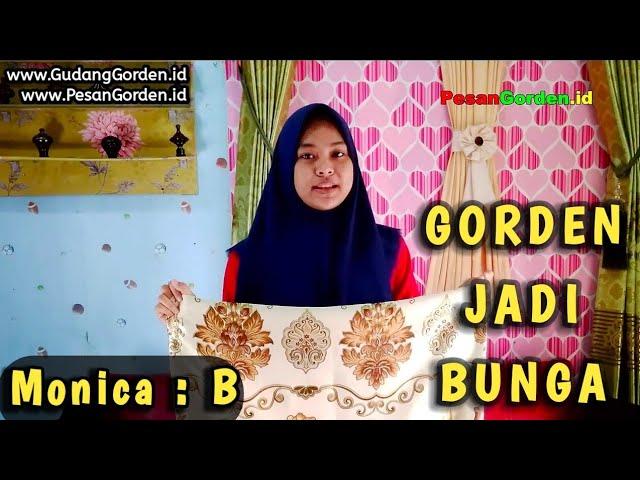 Gorden Minimalis | Gordyn Jadi Motif Bunga Monica 2 - 085287651175 #gudanggorden