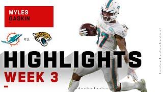 Myles Gaskin Highlights vs. Jaguars   NFL 2020