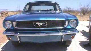 66 Mustang with a 289 and Flowmaster American Thunder exhaust