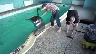 видео Копинговый камень из Гранита для бассейнов