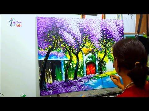 Học vẽ tranh – Các bước dạy vẽ tranh phong cảnh phố hoa. (Phần 1.2)_T.KHẢO KHÓA HỌC VẼ LINK BÊN DƯỚI