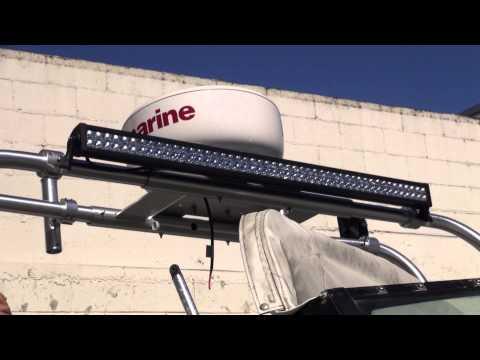 Boat Radar and Light Bar Installation by Monney Redwood City