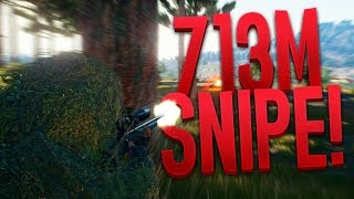 713 Meter Snipe! The Longest Shot Challenge! Battlegrounds