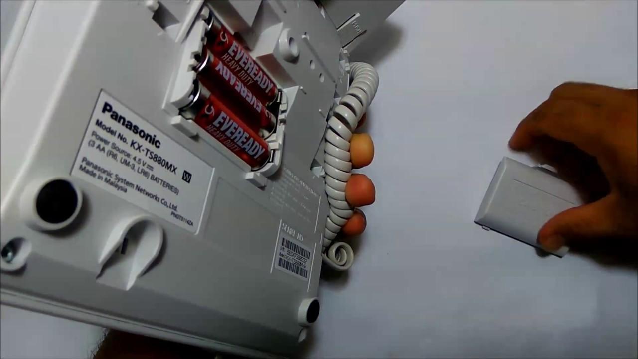 Set Clock Telepon Panasonic Kx Ts880 Youtube