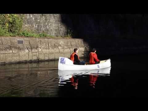 Skyship-Tokyo canal EV canoe tour