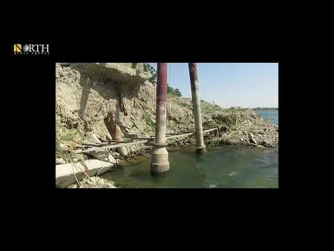 Scenes show the low level of the Euphrates River near the city of Raqqa to swamp-like levels.