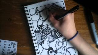 Zentangle Speed Drawing