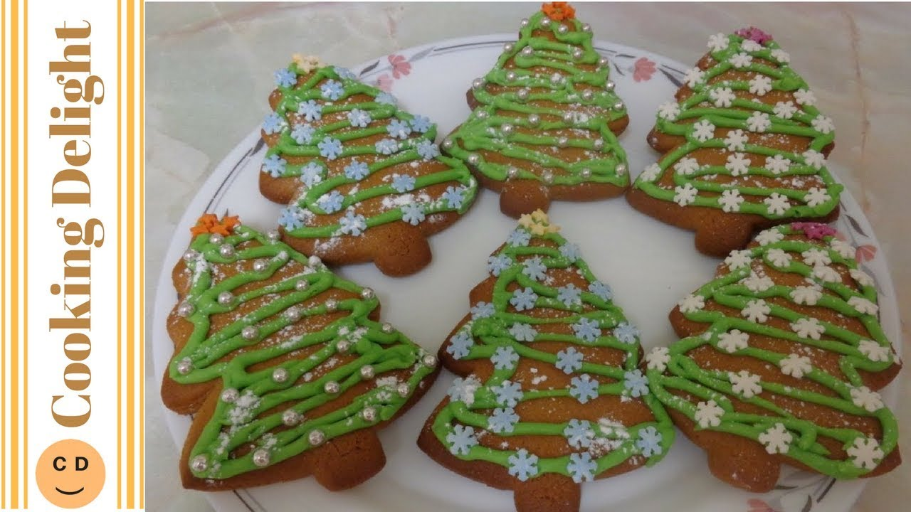 Christmas Tree Gingerbread Biscuits