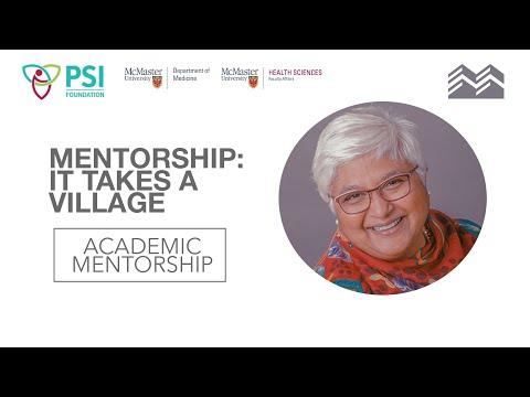 Mentorship: It Takes a Village | Dr. Sarita Verma | PSI Academic Mentorship Event 2021