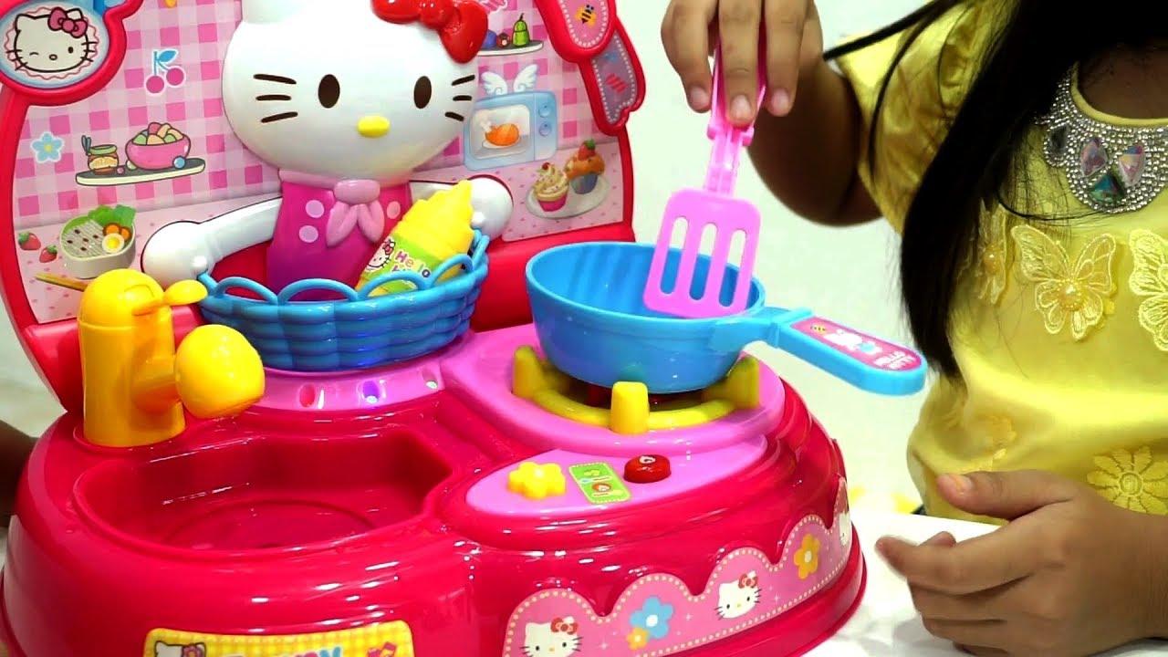 Mainan Anak Masak Masakan Hello Kitty Potong Buah Dan Sayur Jessica Jenica Youtube
