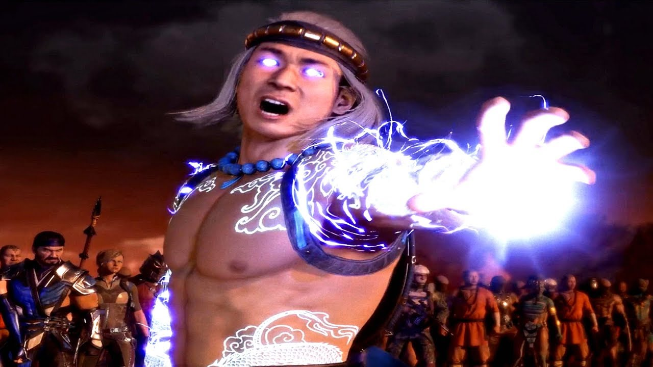 Mortal Kombat 11 Fire God Liu Kang Transformation Scene Raiden