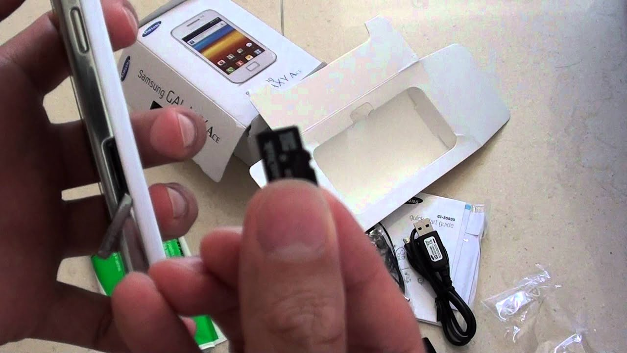 How to insert micro sd card into samsung galaxy ace youtube ccuart Gallery