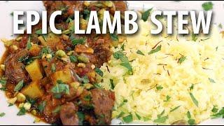 Lamb Stew W/ Apricots And Sweet Potatoes - Big Meat Sunday