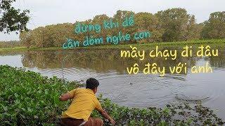 Săn hugo ăn tết. Cây cần xanh huyền thoại kéo con cá muốn không lên nổi | Săn bắt SÓC TRĂNG |