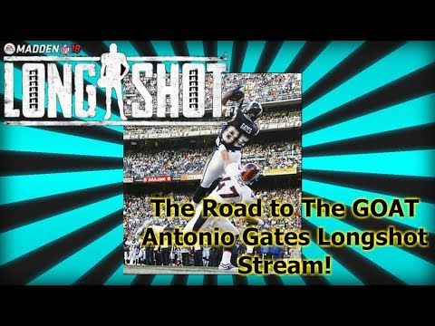 Entire Antonio Gates Longshot Gameplay Stream (Madden Mobile 18) The Return of Raging Asian Gaming