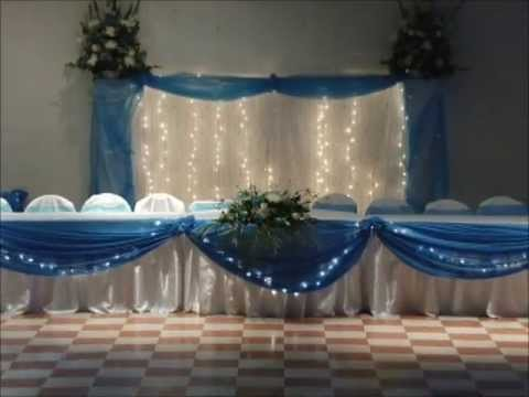 Quincea era decoracion teal youtube for Adornos para quinceanera