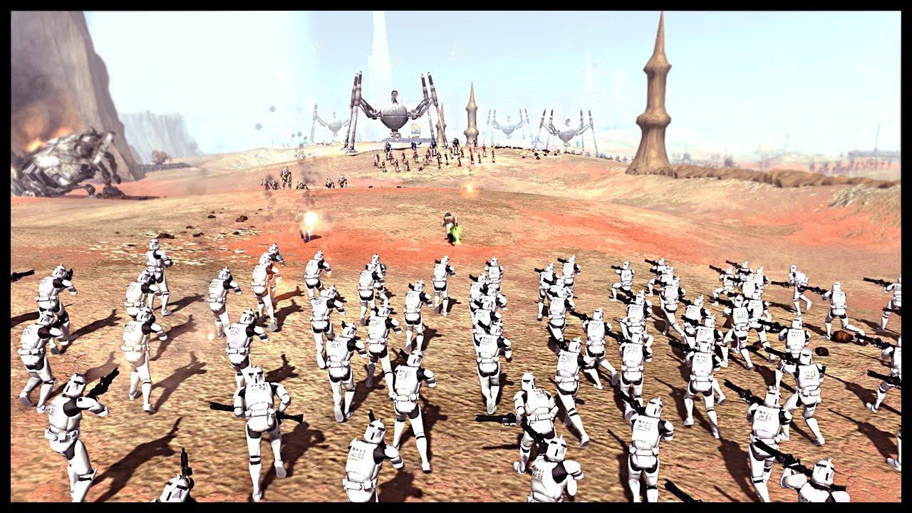 Huge Clone Assault - Battle Of Geonosis | Men Of War ...