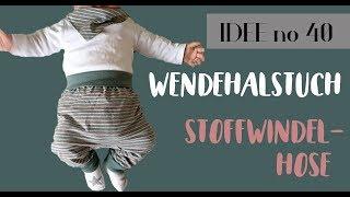DIY baby pumphose für Stoffwindeln / Wendehalstuch nähen / KOSTENLOSER SCHNITT / Idee no. 40