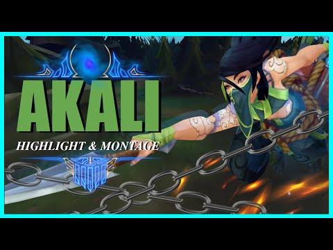 AKALI MONTAGE - FULL COMBO PENTAKILL NINJA STYLE HIGH ELO