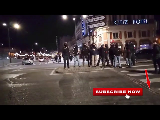 La BAC try and intimidate press, Gilets Jaunes  Yellow Vests Toulouse, 11/01/20, live 3 cut 14