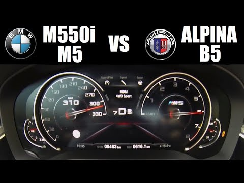 BMW Or Alpina?! BMW M550i Vs BMW M5 Vs Alpina B5 BiTurbo (0-300 Km/h)