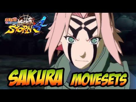 Naruto Ultimate Ninja Storm 1-4 - Sakura Movesets