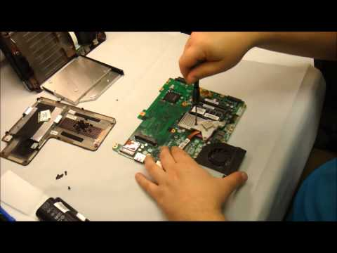 How to replace laptop heat sink/ cooling fan on a HP CQ61