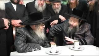 Satmar Rebbe Of KJ Visiting Bobov45 Rebbe - Shevat 5776