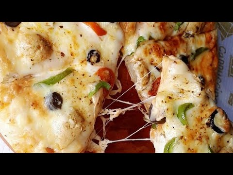 Cheesy Chicken Pizza| Dominos Style