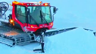 Как Ратраки Готовят Лыжные Трассы NEW 2020