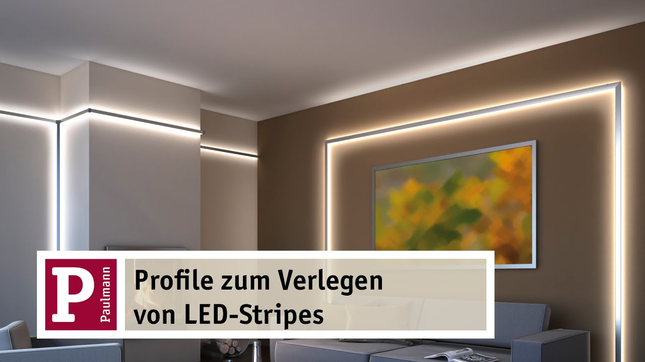indirektes led licht yourled strip und duo und delta profile youtube. Black Bedroom Furniture Sets. Home Design Ideas