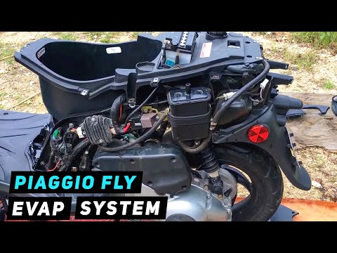 Piaggio Fly - How To Remove Evap System | Mitch's Scooter Stuff